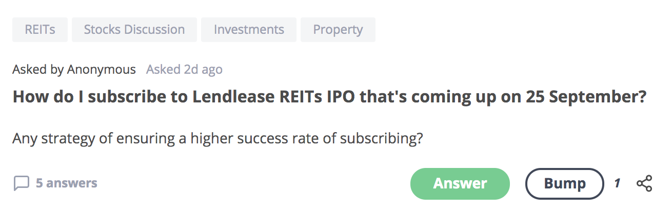 How do I subscribe to Lendlease REITs IPO that's coming up on 25 September 2019?
