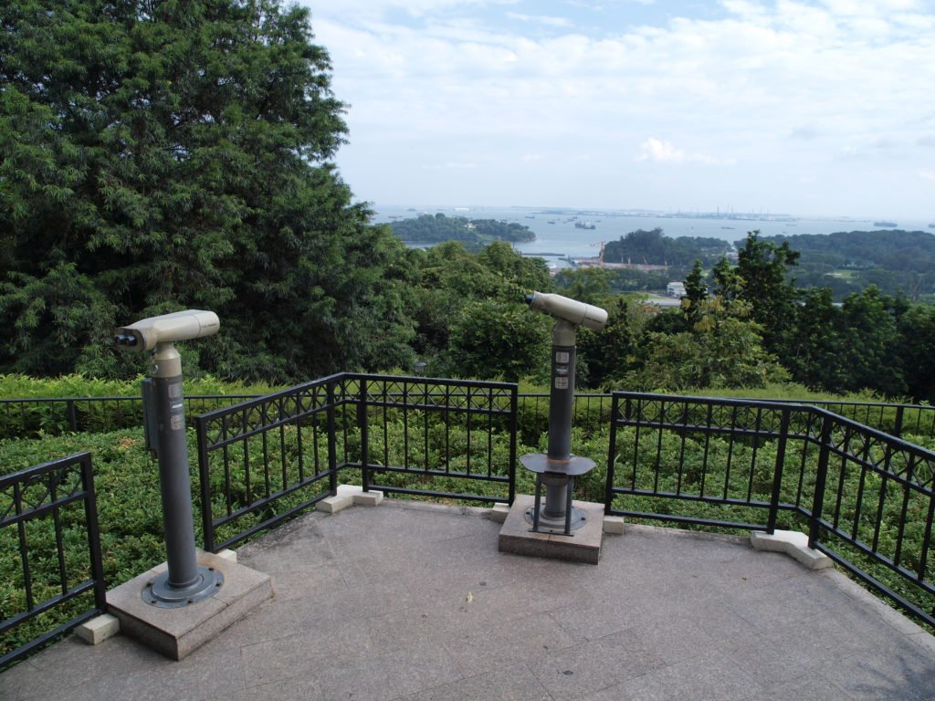 Mount Faber Park Vantage Point With Binoculars