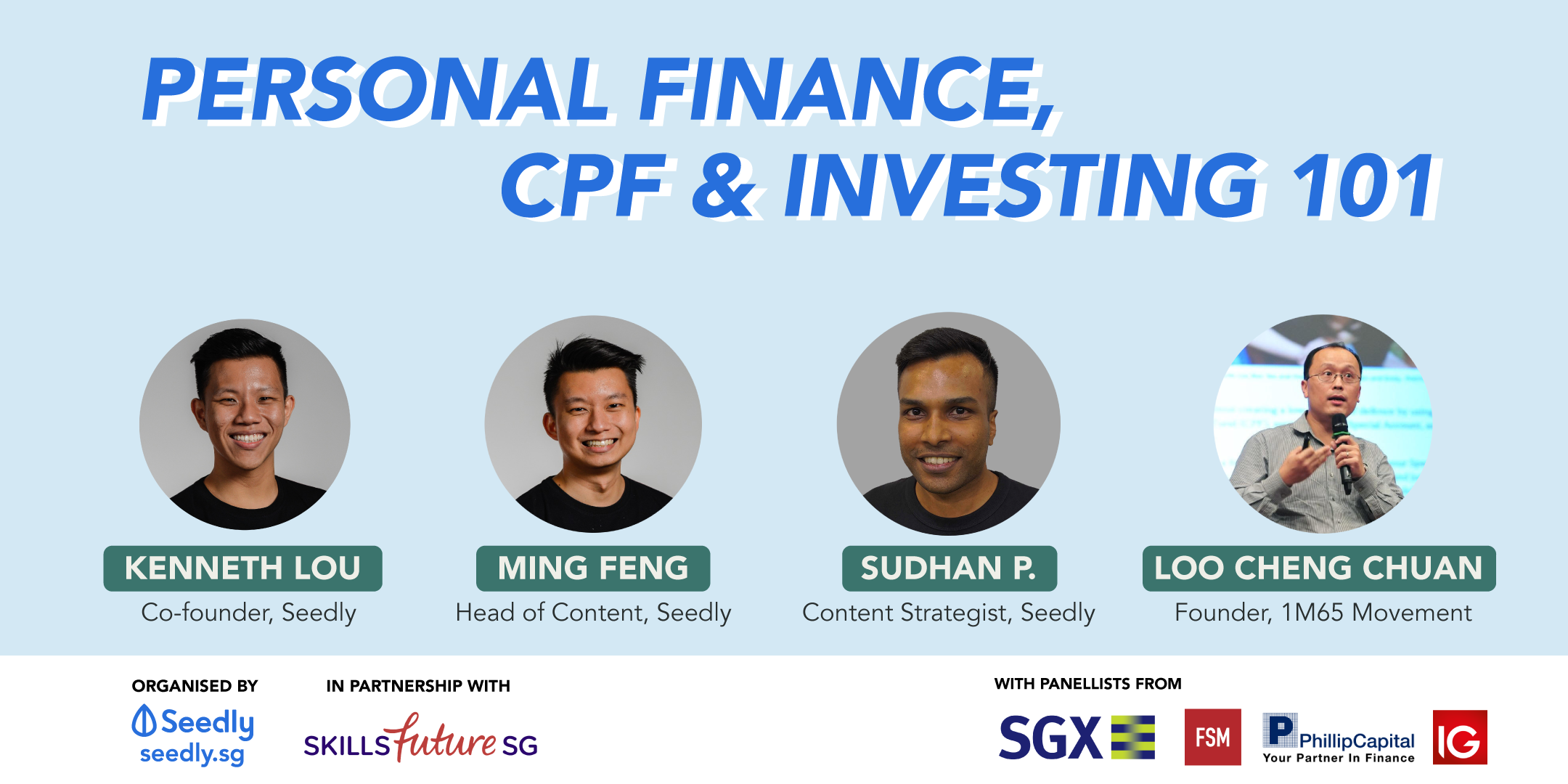 Seedly Personal finance, CPF and Investing 101