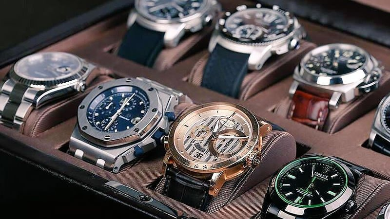 selection of luxury watch