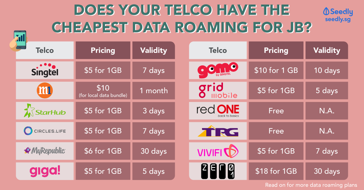data roaming plans for telcos singapore