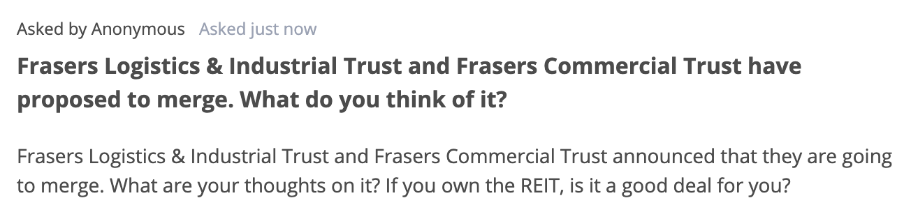 Seedly Q&A for Frasers REITs merger