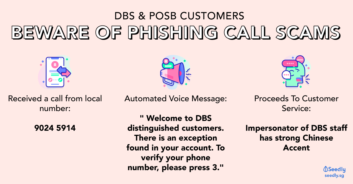 DBS and POSB Phishing Call scams