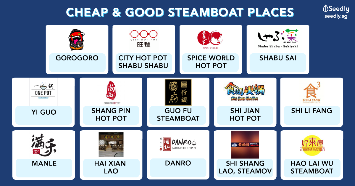 Cheap and good steamboat and hotpot places in Singapore
