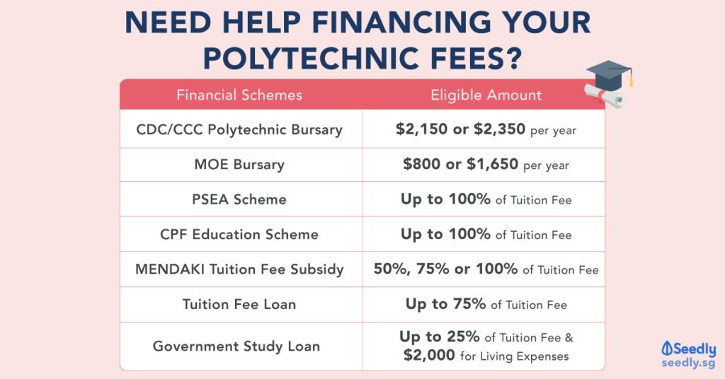 grants, bursaries and subsidies to finance polytechnic education