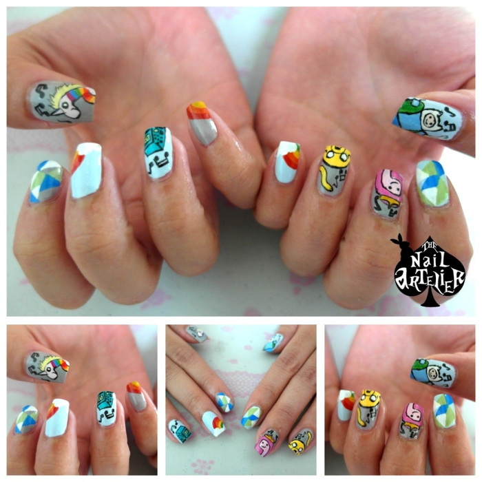 The Nail Artelier manicure