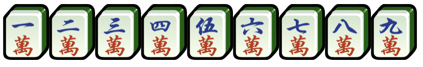 Mahjong Character suit, wan zi