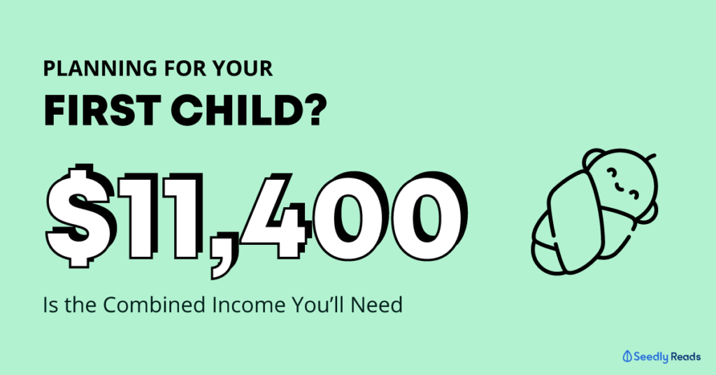 comfortable monthly combined income before deciding to have a first child