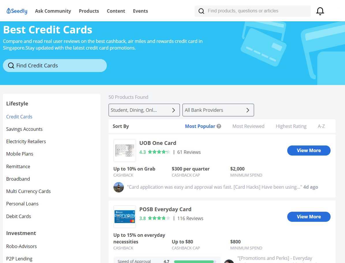 Seedly Credit Card Reviews 3