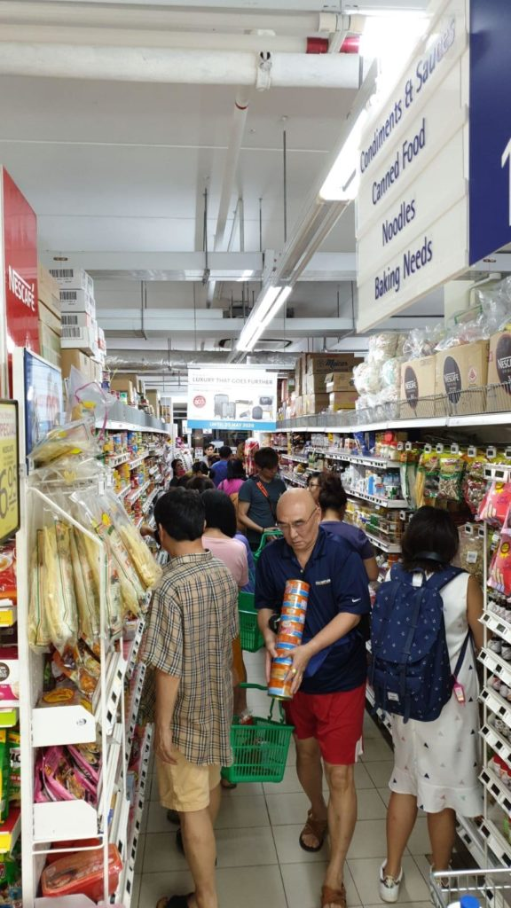 Panic buying of supermarket, Singapore