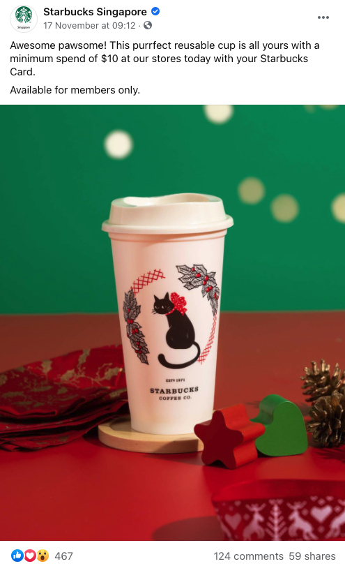 Starbucks Card Members Only Cup