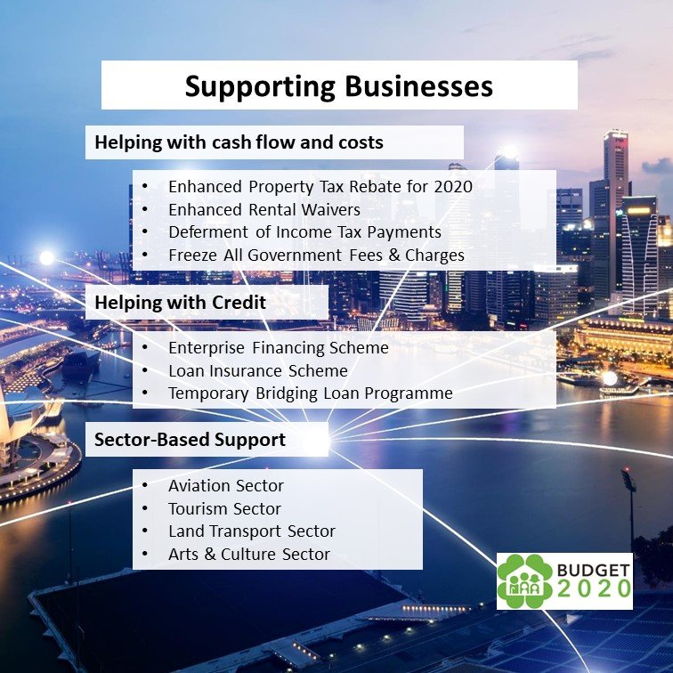Resilience budget 2020, support Business