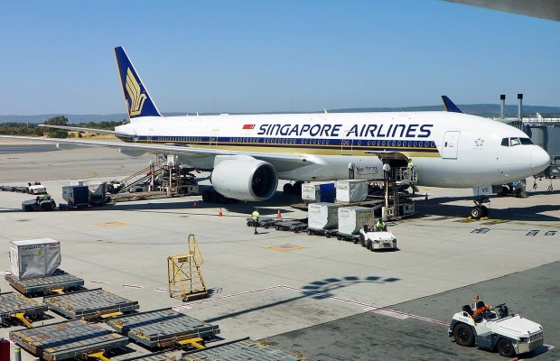 SIA Plane in Changi Airport