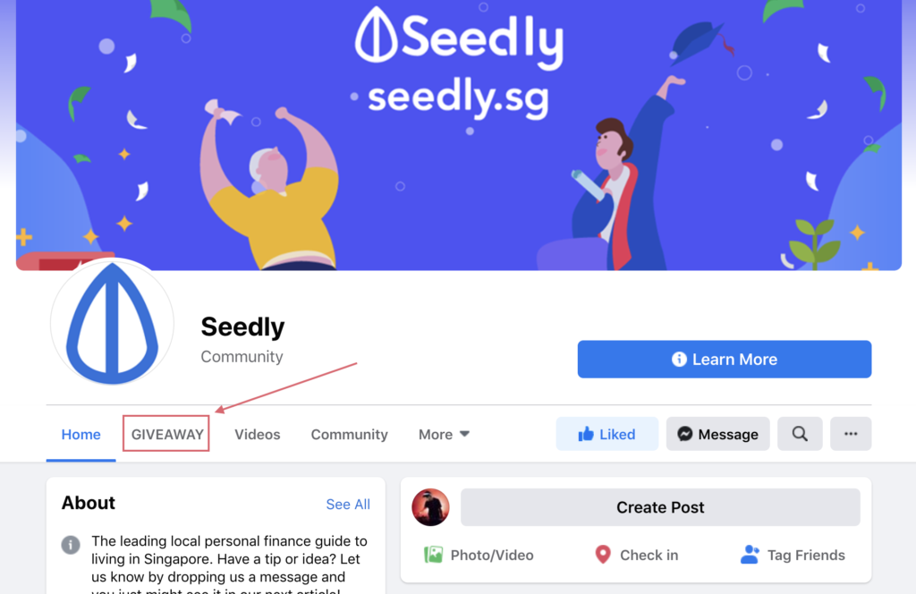 Where to find Seedly Giveaway
