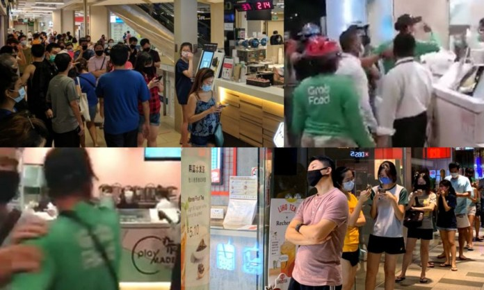 Bubble Tea queue on 21 april 2020