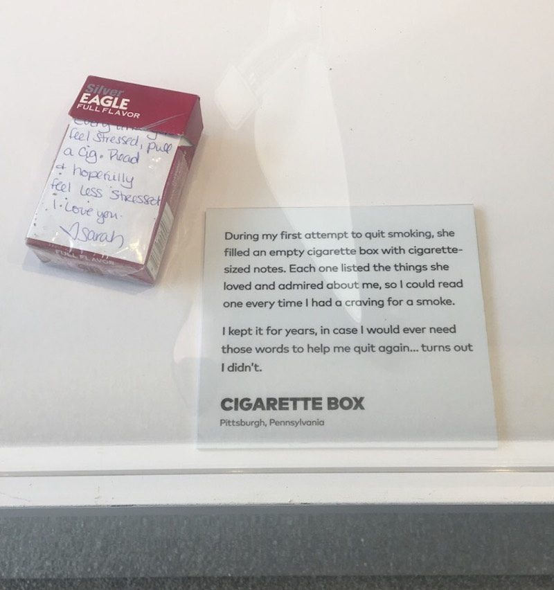 Cigarettes from Museum of Broken Relationships