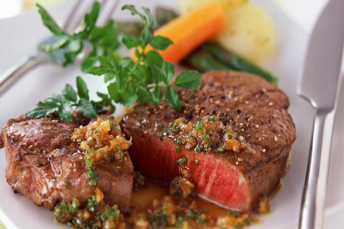 The Halal Meat Specialist Cooked Steak on a Plate