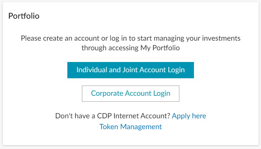 Portfolio SGX Portal