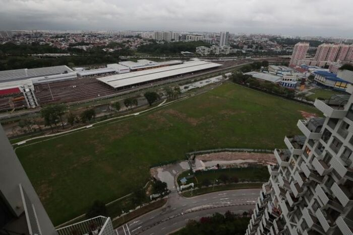 Plot of land near Bishan MRT which could be used for BTO flats in 2025
