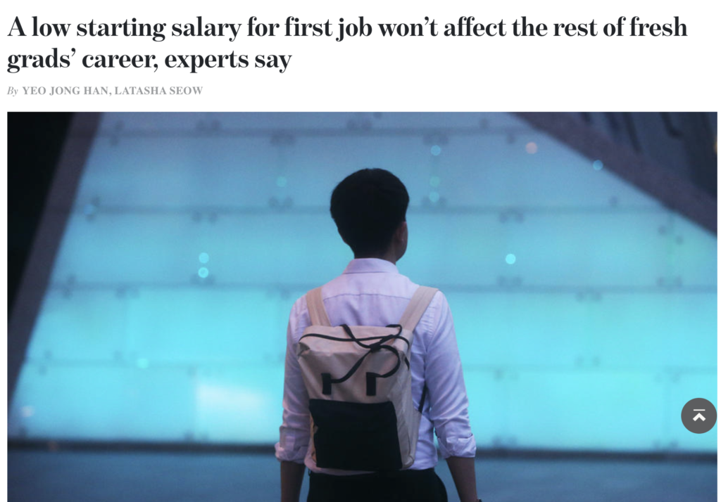 TodayOnline article on low starting salary