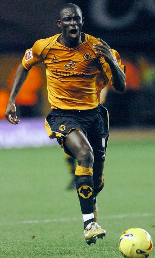 Seyi Olofinjana in action for Wolverhampton Wanderers