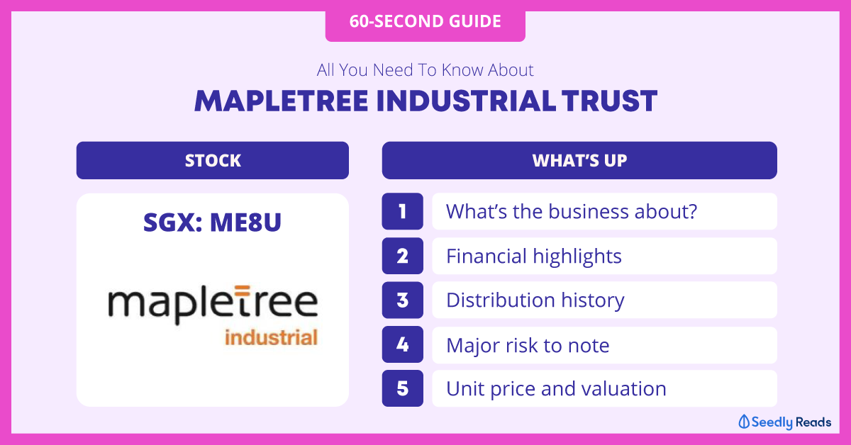 Mapletree Industrial Trust 60-Second Guide Seedly