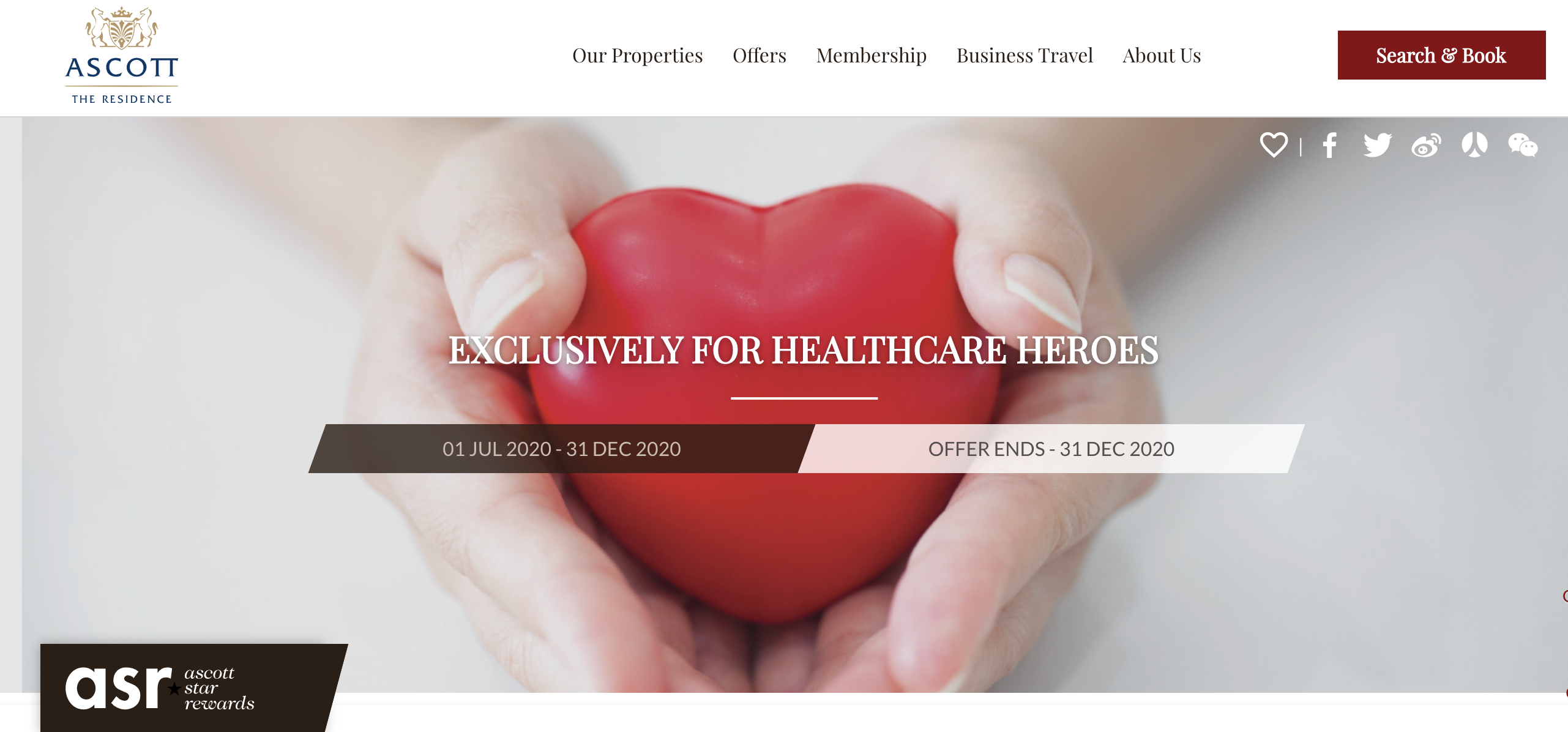 the ascott for healthcare heroes promotion campaign