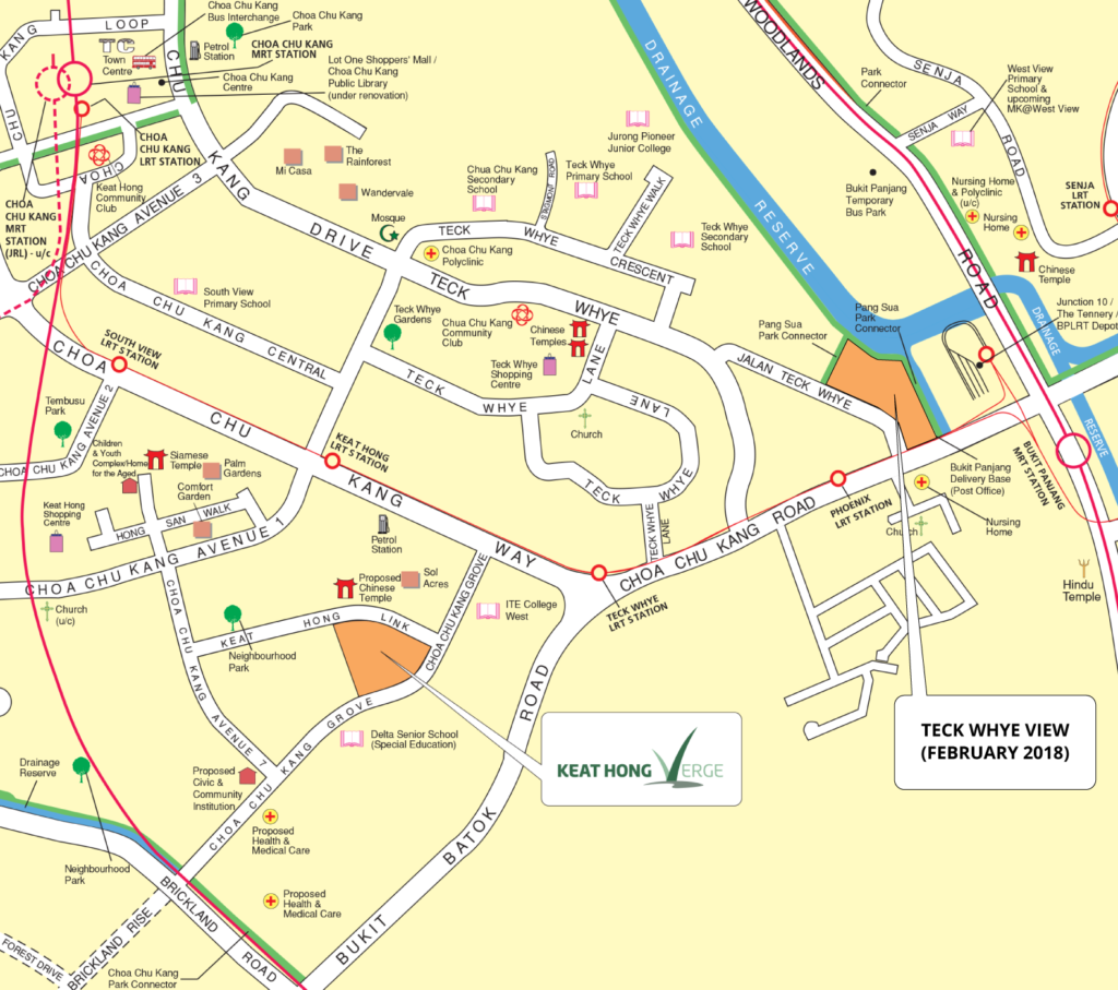 Keat Hong Verge Choa Chu Kang Map