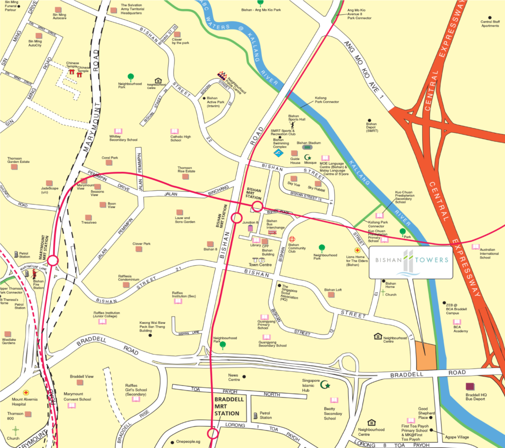 Bishan Towers Map