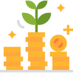 money coins growing seedling