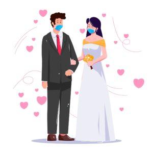 pandemic wedding couple