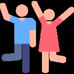 man and woman dance