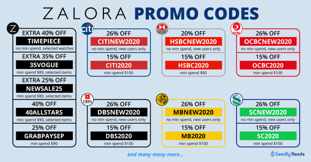 Seedly Zalora Promo Codes and Credit Card Discounts