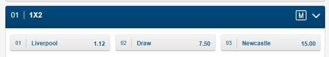 Soccer betting Liverpool vs Newcastle