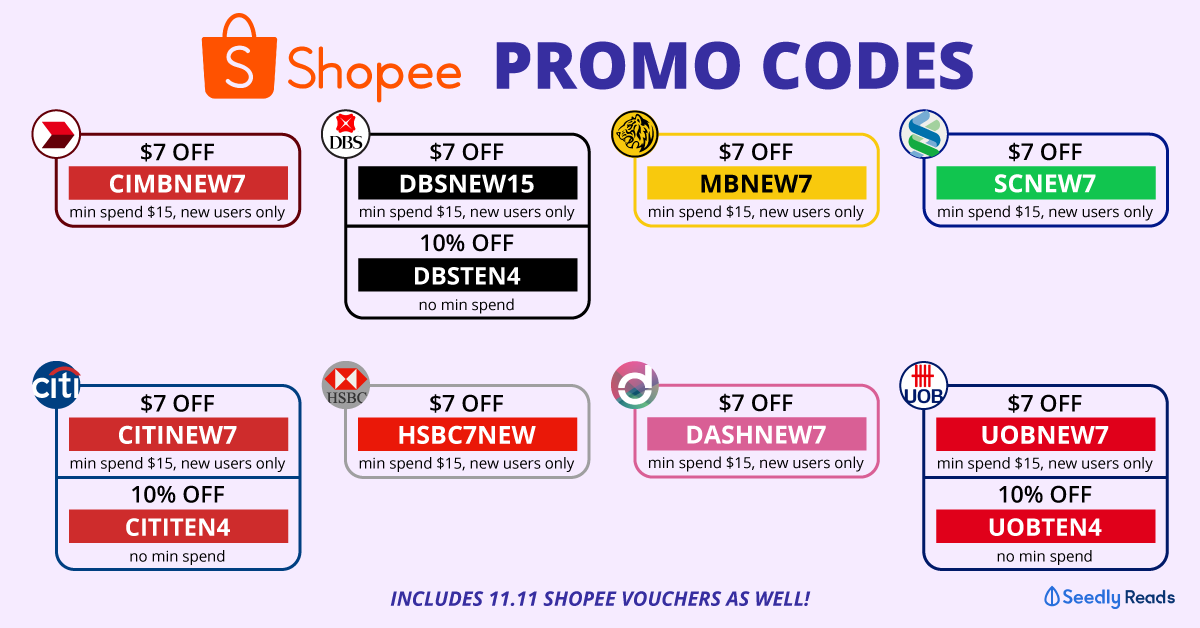 Shopee Promo Codes And Credit Card Discounts For Shopaholics Includes 11 11 Vouchers