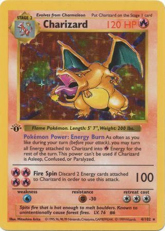 Charizard 1st edition holo