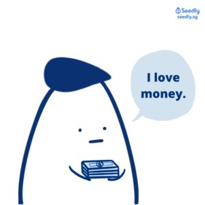 I love money holding cash Seedlycomics