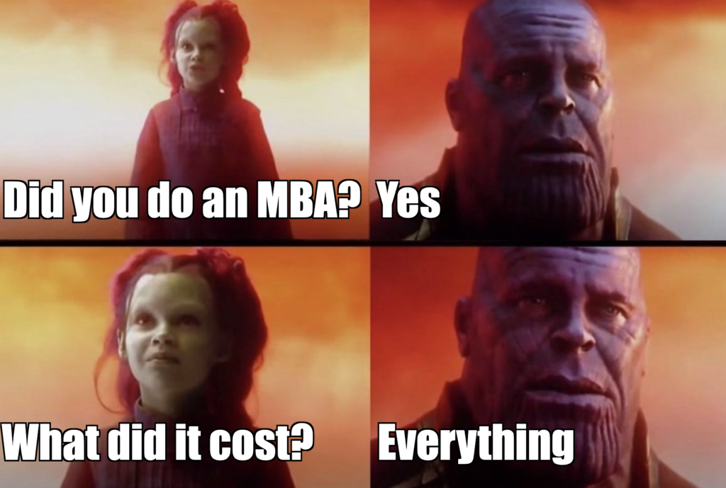 thanos what did it cost meme