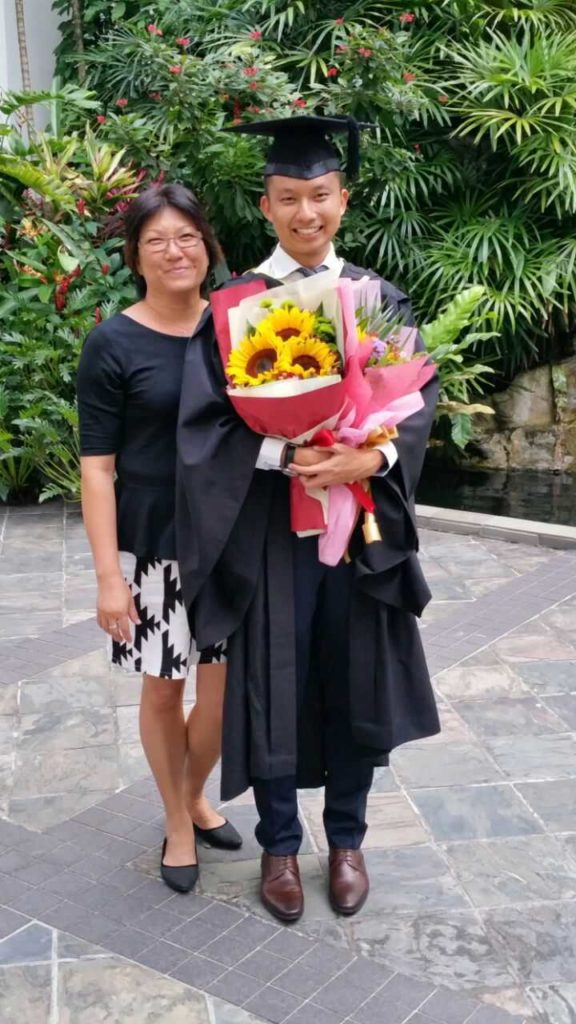 Ming Feng and mum