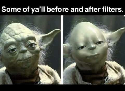 yoda before and after filter