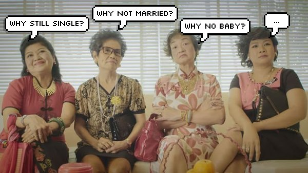 SAYS annoying relatives during chinese new year