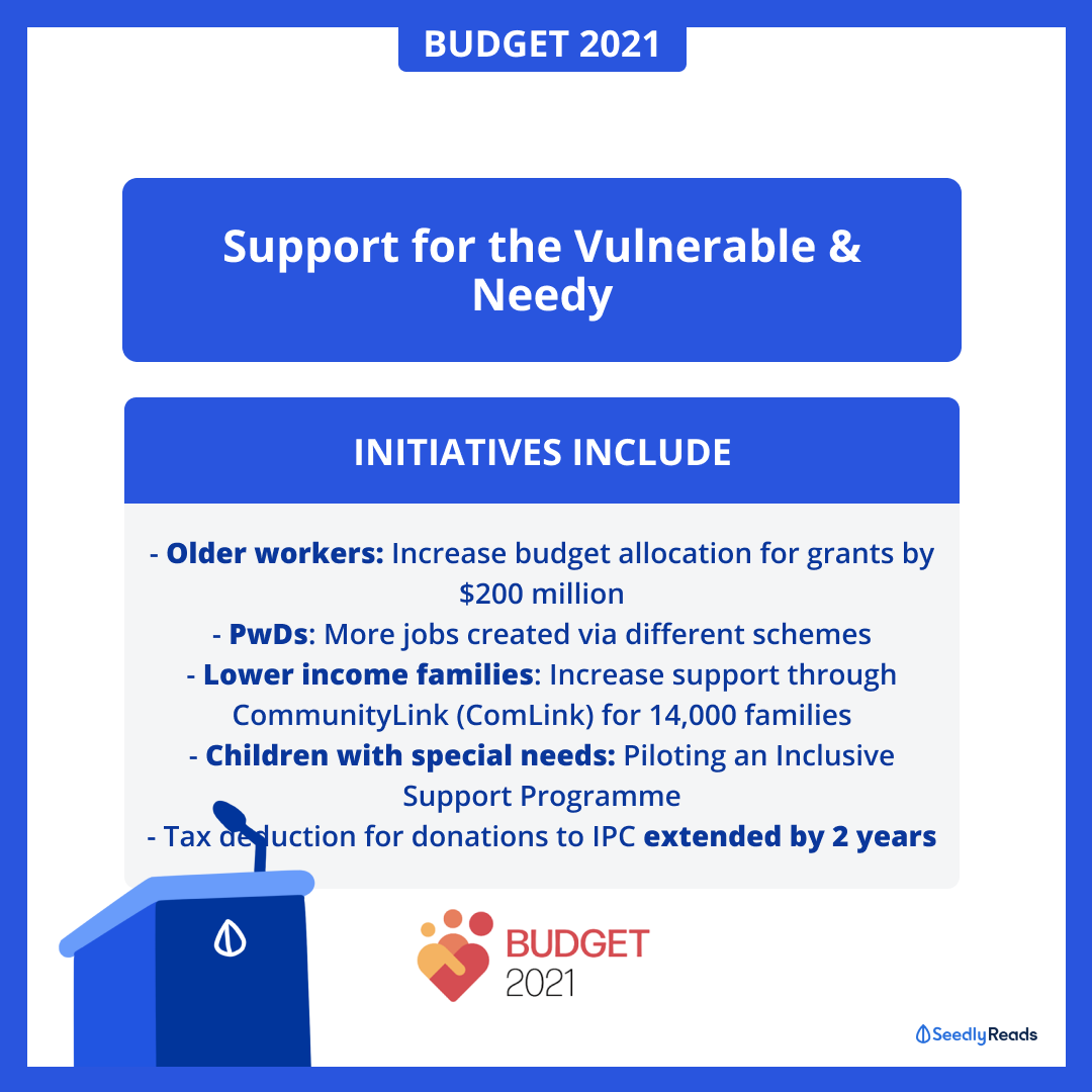 Emerging Stronger Together 2021 Singapore Budget - Help for needy